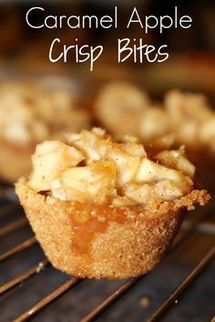 Delicious Caramel Apple Crisp Bites from Princess Pinky Girl
