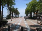 This is the promenade in Nerja Spain which stretches which down to the coast. Right in front of our balcony.