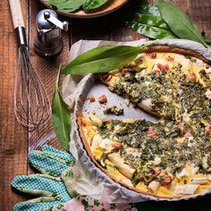 Spargeltarte mit Bärlauch Vegetable Pizza, Quiche, Vegetables, Breakfast, Food, Best Asparagus Recipe, Goulash, Clean Foods, Easy Meals