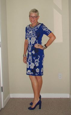 What Jeanne Wore: Cobalt - Two Take on Style @twotakeonstyle