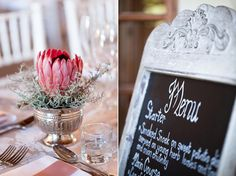 Menu on ornate chalkboard Wedding Venues, Wedding Day, E Design, Chalkboard, Wedding Inspiration, Herbs, Table Decorations, Creative Ideas, Flowers
