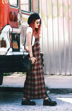 NEVERMIND.   LEHAPPY   #TUK // grunge flannel creepers dyed hair