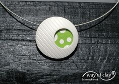 pendant | polymer clay, silver, inspired by Betsy Baker | way of clay | Flickr