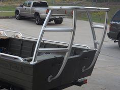 Poling platform on aluminum boat