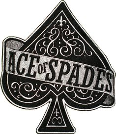Ace of Spades logo embroidered #ace #blackace #aceofspades