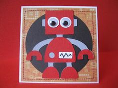 Boys robot card. Used 'Boys will be boys' cricut cartridge.