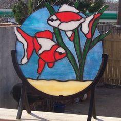 Decorative Goldfish D5 by TerrazaStainedGlass on Etsy, $69.00