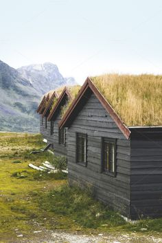 Check out Traditional turf houses from Norway by OSORIOartist on Creative Market