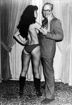 Vampirella flirting with Forrey J. Ackerman
