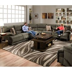 Big Family Think Sectional On Pinterest Reclining