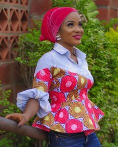 Must have hot trending ankara tops to pair with yo African Wear Dresses, African Fashion Ankara, Latest African Fashion Dresses, African Print Fashion, African Attire, Ankara Peplum Tops, Ankara Blouse, Ankara Dress, African Blouses