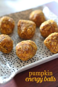 Pumpkin Energy Balls So Easy, They Almost Make Themselves