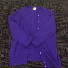 Purple cashmere cardigan Purple J. Crew Buonissima 100% cashmere cardigan J. Crew Sweaters Cardigans