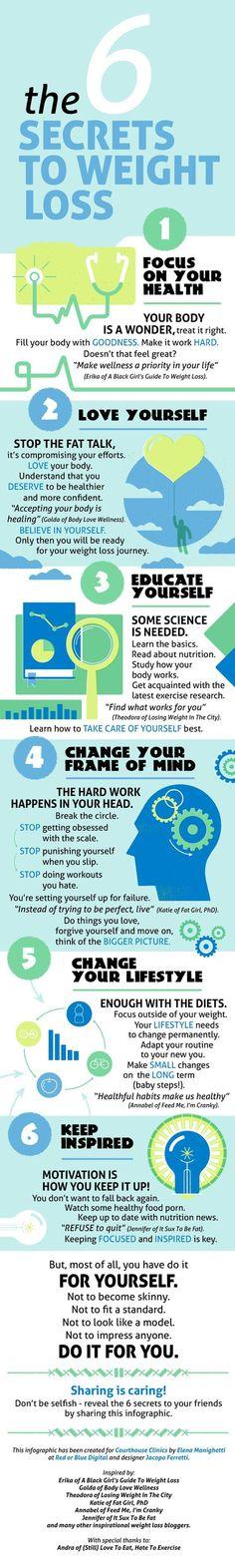 6 Secrets to Weight Loss - #HealthyHappySmart #WeightLoss