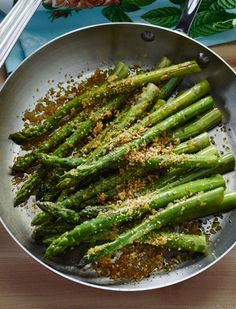 A lovely way to celebrate the arrival of spring is to serve fresh asparagus spears. Try this pan-roasted asparagus recipe with garlic and lemon zest.