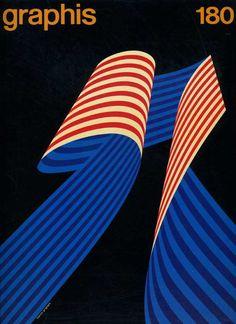 Graphis magazine, numéro 180 (1966) – Couverture de Franco Grignani (1908-1999)
