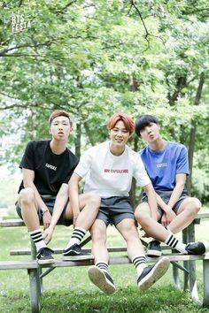 Rap Monster, Jimin and J-Hope ❤ RAPJIHOPE #BTS #방탄소년단 3rd Anniversary celebration day 4 of 12 'Real Family Picture' (PART 1/2) #BTSFESTA2016