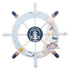 Nautical Wall Marine Decor Wood Pirate Ship Helm Wheel