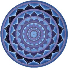 """Blue Purple Mandala, Round"" - art by Paul Heussenstamm, via Mandalas.com"