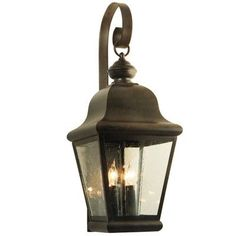 2nd Ave Design La Palma 3 Light Outdoor Wall Lantern Finish: Coffee Bean, Shade Type: Real Mica