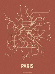 Paris (Brick Red & Tan) Serigrafi