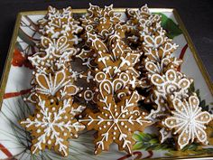 Snowflake gingerbread.