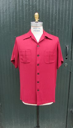 BERRY-LICIOUS Vintage 40s Shirt 1940's Mens by lovestreetsf