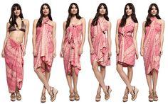 How to tie a sarong six ways   Silk print sarong   Indonesian Sarongs   style-passport