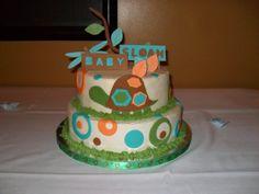 baby shower boy cakes turtles   Turtle Baby Shower Cake — Baby Shower