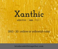Obscure Words For Golden /Yellow color – Let's Decode Life Together