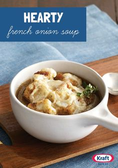 Hearty French Onion Soup — A.1. Original Sauce is the surprise ingredient in this delicious take on traditional French onion soup.