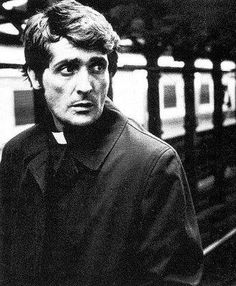 The Exorcist (1973) Jason Miller as Father Damien Karras. This movie scared the hell out of me ...and  I still get creeped out when I hear 'Tubular Bells'.