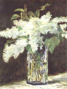 "Edouard Manet - ""Les lilas blancs"""