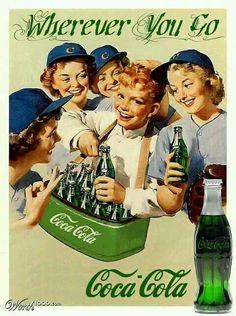 CocaCola en verde. Coke in green