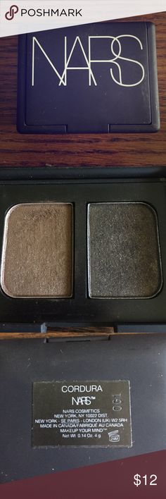 """NARS Eyeshadow Duo - Cordura This is an eyeshadow duo by NARS. In the color """"Cordura"""". Only used a few times from what you can see in the pic. Plenty of product left. NARS Makeup Eyeshadow"""