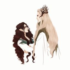 """Thranduil and Rîneth from the fanfic """"Stars of Varda."""" You can read their story here on wattpad or fanfic.net. https://www.wattpad.com/221597631-stars-of-varda-an-elven-love-story-thranduil-1 https://www.fanfiction.net/s/11794620/1/Stars-of-Varda"""