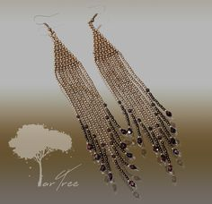 """Long (c.a. 16 cm) earrings… This unique piece of art is exclusively designed by ARTREE and assembled manually piece by piece in a limited edition. """"...this masterpiece of art is especially dedicated to anyone with an eye for elegance and extravagancy in time.. Jewelry Collection, Art Pieces, Drop Earrings, Unique, Artist, Eye, Design, Artworks, Artists"""