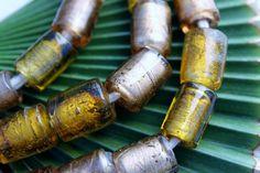 Golden Topaz African Glass Beads by BeadyEyedBird on Etsy, $60.00
