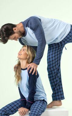 MIXTE PIJAMAS • Fall-Winter 2018 • Mixte Mens Collection - Matching Couple Outfits, Matching Couples, Cute Pajamas, Pajamas Women, Girl Sleepover, Mens Fall, Nightgown, Pyjamas, Nightwear
