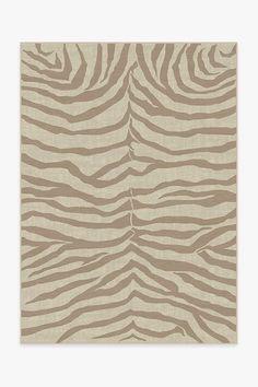Zebra Natural Rug | Washable Rug | Ruggable 5x7 Rugs, Machine Washable Rugs, Gold Rug, Black Rug, Natural Rug, Rug Cleaning, Woven Rug, Colorful Rugs, Animal Print Rug