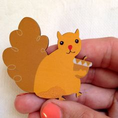 A personal favorite from my Etsy shop https://www.etsy.com/listing/230069139/wooden-squirrel-brooch