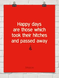 Happy days are those which took their hitches and passed away (hat) #421184