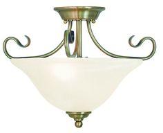 Livex Lighting Coronado Antique Brass Ceiling Mount 6121-01