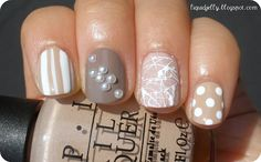 Sweet and simple nail art. :)