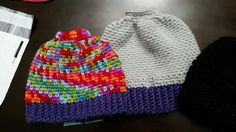 Addy and Ashley ponytail hats 12/2016