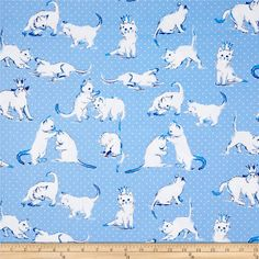 From Michael Miller, this cotton print fabric is perfect for quilting, apparel and home decor accents.  Colors include shades of blue and white.
