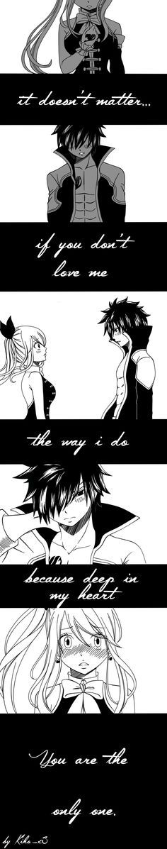 I ship Nalu and Gruvia but... You have to admit that the situation is a little be canon u know, Gray x lucy would be a surprise! Anyway I found this and I think it's so cute and heartbreaking
