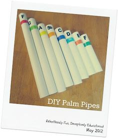 Turn PVC into a set of palm pipes. Stop by Relentlessly Fun, Deceptively Educational for the instructions on how to make (and play) this great DIY instrument!