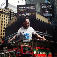 Spotted in #TimesSquare! The #PremierLeague is coming to @NBC Sports  on August 17th!