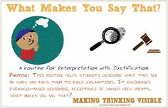What Makes You Say That? Visible Thinking poster